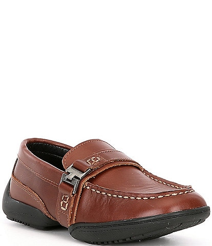 Kenneth Cole New York Boys' Leather Driving Toast Slip Ons (Youth)