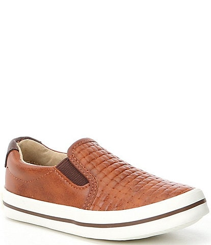 Kenneth Cole New York Boys' Louie Guff-T Woven Leather Sneakers Infant