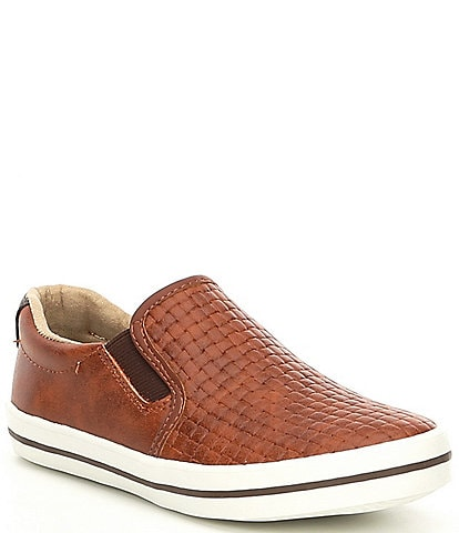 Kenneth Cole New York Boys' Louie Leather Guff Sneaker