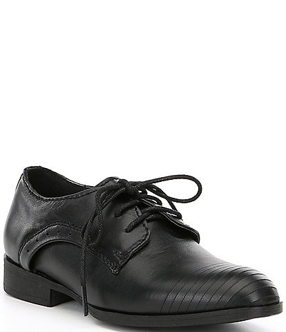Kenneth Cole New York Boys' Straight Line Leather Oxfords (Toddler)