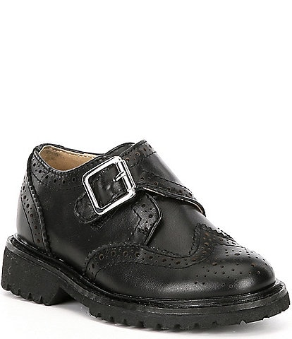 Kenneth Cole New York Boys' Wing Brad-T Leather Wingtip Shoes (Toddler)