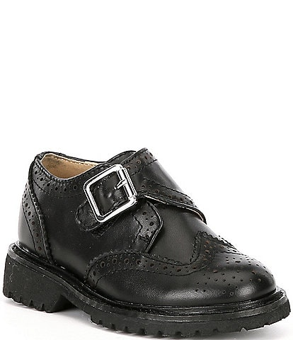 Kenneth Cole New York Boys' Wing Brad-T Leather Wingtip Shoes Infant