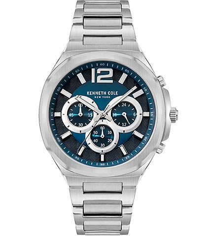 Kenneth Cole New York Dress Sport Chronograph Stainless Steel Watch