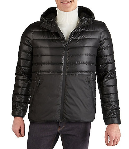Kenneth Cole New York Long-Sleeve Quilted Midweight Hooded Puffer Jacket