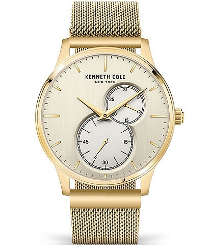 Kenneth Cole New York Men's Essential Multi-Function Mesh Strap Watch