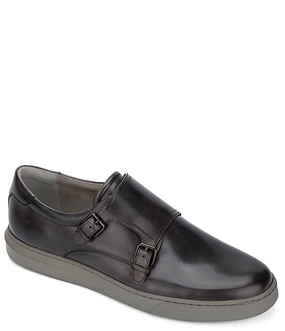 Kenneth Cole New York Men's Liam Leather Monk Strap Shoes
