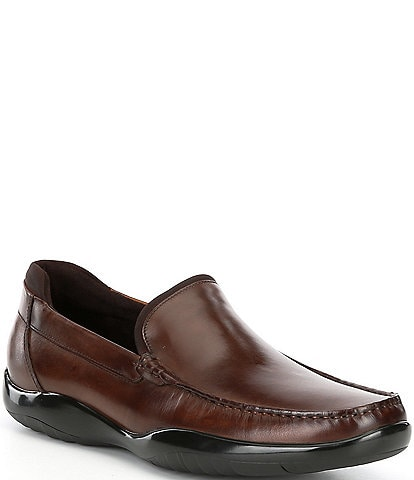 Kenneth Cole New York Men's Motion Flx Pebbled Leather Driver Loafers