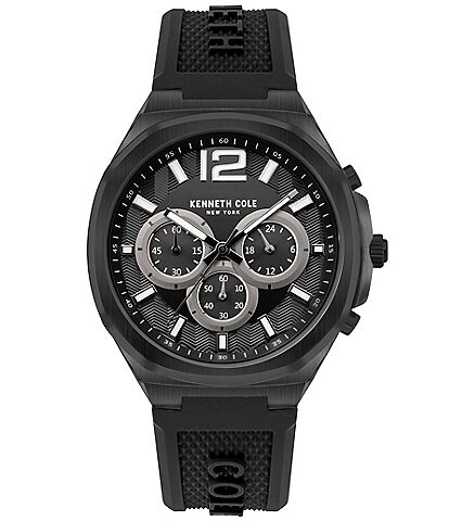 Kenneth Cole New York Men's Silicone Strap Chronograph Watch