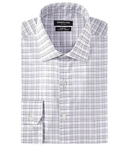 Kenneth Cole New York Non-Iron Slim Fit Spread Collar Tek Fit Solid Dress Shirt
