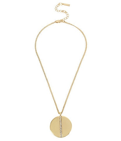 Kenneth Cole New York Pave Disc Pendant Necklace