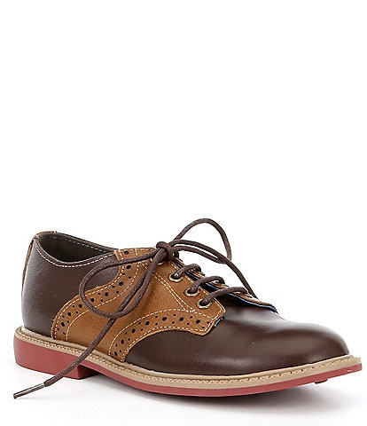 Kenneth Cole Reaction Boys' Spencer Racer Leather Saddle Shoes Toddler