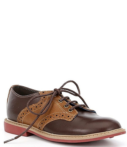 Kenneth Cole Reaction Boys' Spencer Racer Leather Saddle Shoes Youth