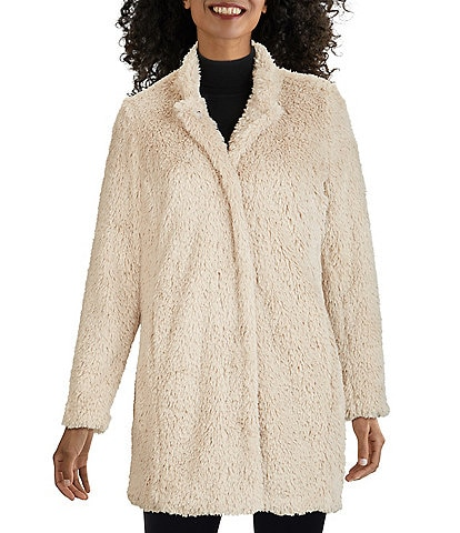 Kenneth Cole Long Teddy Faux Fur Coat