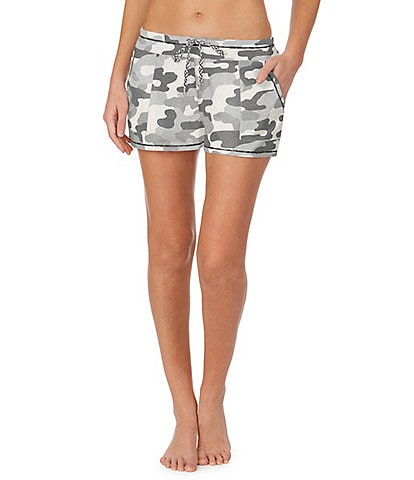 Kensie Camouflaged Print Knit Sleep Shorts