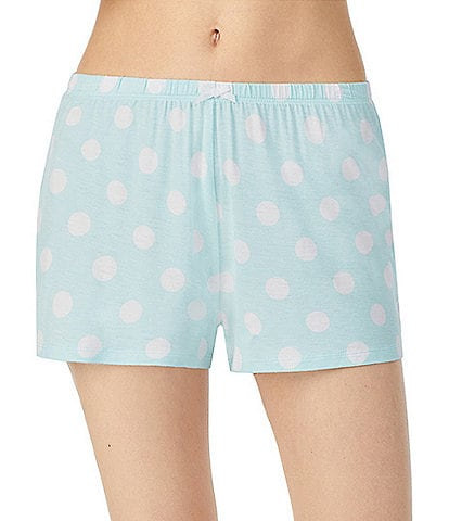 Kensie Dot-Print Jersey Knit Sleep Shorts