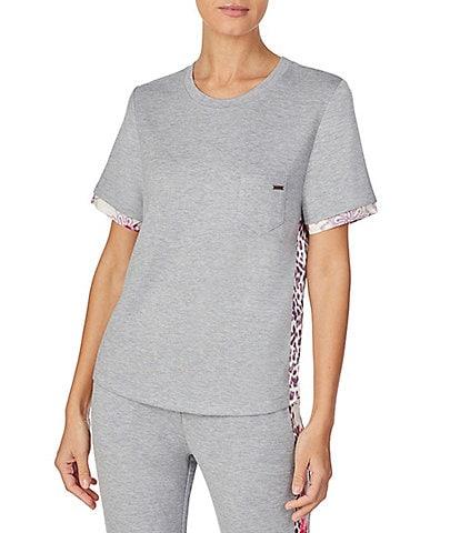 Kensie Solid Jersey Knit Sleep Top