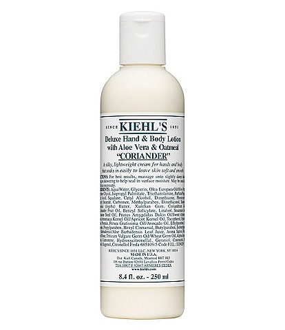 Kiehl's Since 1851 Coriander Deluxe Hand & Body Lotion with Aloe Vera & Oatmeal