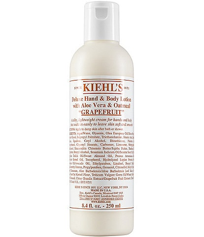 Kiehl's Since 1851 Grapefruit Deluxe Hand & Body Lotion with Aloe Vera & Oatmeal