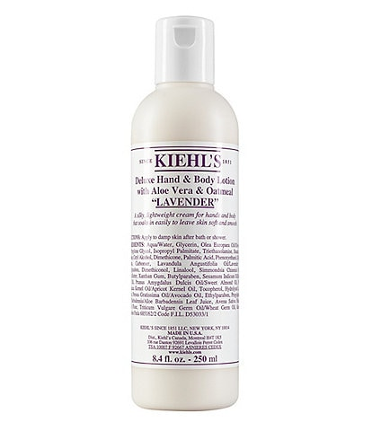 Kiehl's Since 1851 Lavender Deluxe Hand & Body Lotion with Aloe Vera & Oatmeal