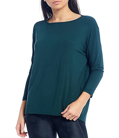 Kinesis 3/4 Sleeve Boat Neck Perfect Moisture Wicking Tee