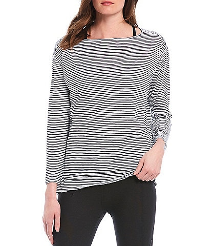 Kinesis 3/4 Sleeve Striped Perfect Tee