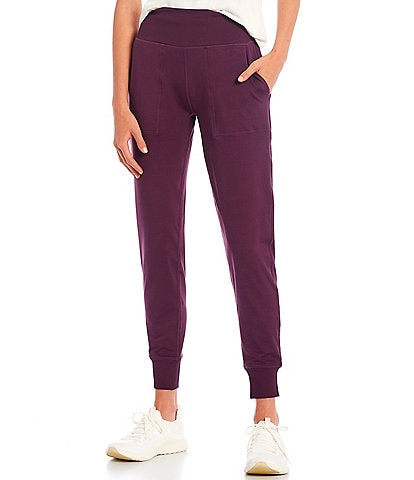 Kinesis High Rise Slim Sueded Jersey Joggers