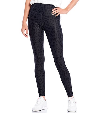 Kinesis High Rise Tonal Leopard Print Ankle Leggings
