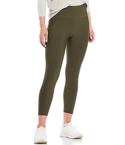 Kinesis Mid Rise Moisture Wicking Side Pocket Crop Leggings