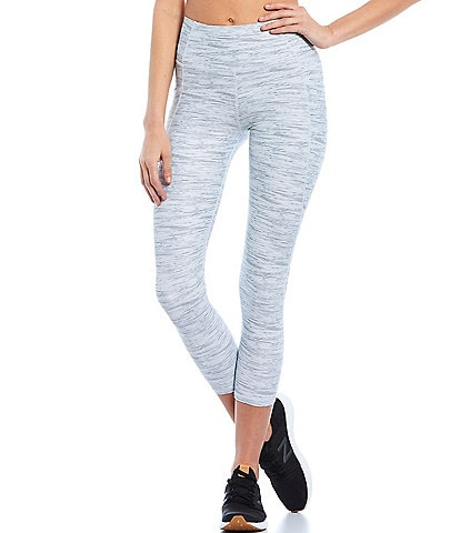 Kinesis Mid Rise Spacedye Crop Moisture Wicking Leggings