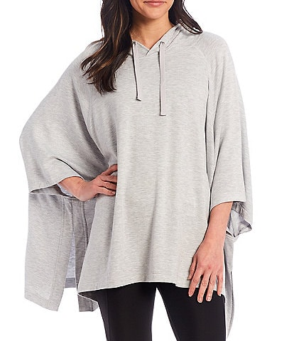 Kinesis Oversized Hooded Sharkbite Hem Poncho