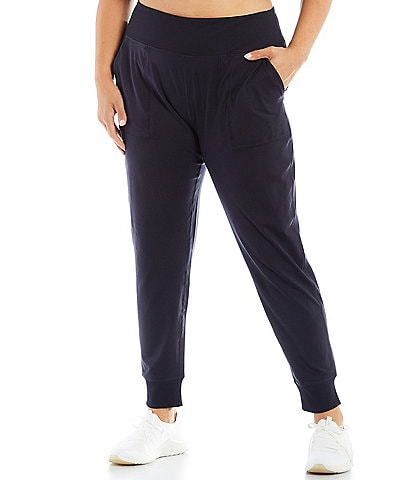 Kinesis Plus Size High Rise Pull-On Slim Joggers
