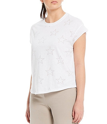Kinesis Star Burnout Perfect Wedge Cotton Blend Tee