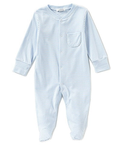 Kissy Kissy Baby Boy Newborn-9 Months Stripe Footed Coveralls