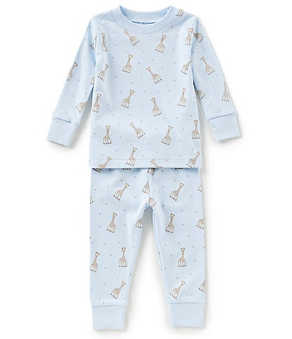 Kissy Kissy Baby Boys 12-24 Months Sophie La Girafe Printed Top & Bottom Pajama Set