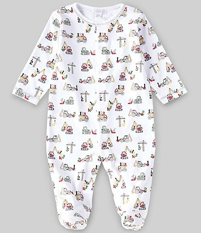 Kissy Kissy Baby Boys Newborn-9 Months Long-Sleeve Construction Footed Coverall