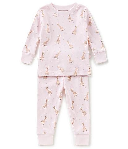 Kissy Kissy Baby Girls 12-24 Months Sophie La Girafe Printed Top & Bottom Pajama Set