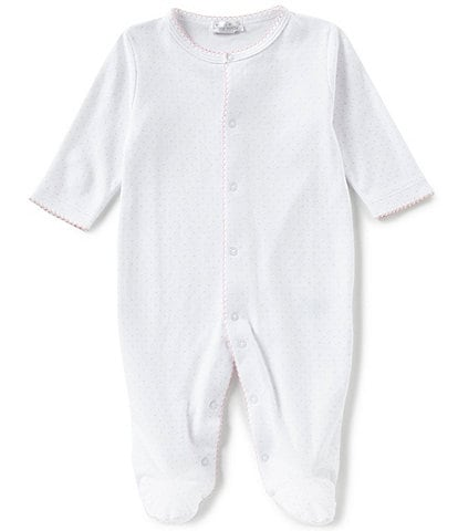 Kissy Kissy Baby Girls Newborn-9 Months Dot Print Footed Coveralls