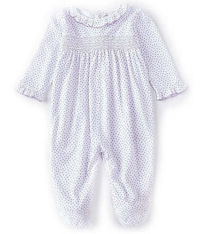 Kissy Kissy Baby Girls Newborn-9 Months Long-Sleeve Petit Heart Footed Coverall