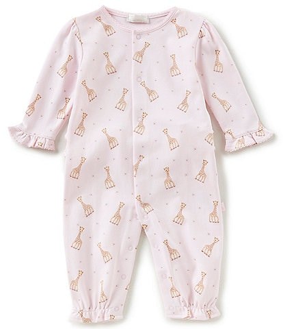 Kissy Kissy Baby Girls Newborn-9 Months Sophie La Girafe Printed Coverall