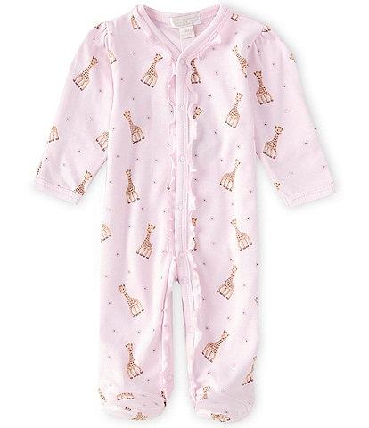 Kissy Kissy Baby Girls Preemie-9 Months Sophie La Girafe-Printed Footed  Coverall bf0f2ba6e