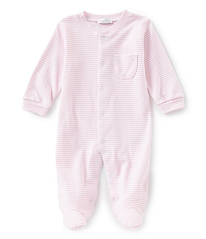 Kissy Kissy Baby Girl Newborn-9 Months Stripe Footed Coveralls