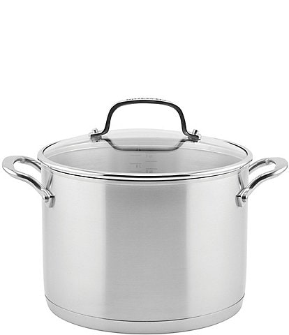 KitchenAid 3-Ply Base Stainless Steel 8-Quart Stockpot With Lid