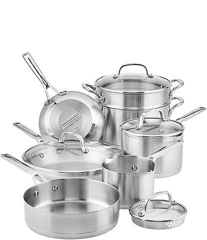 KitchenAid 3-Ply Stainless Steel 11-Piece Cookware Set
