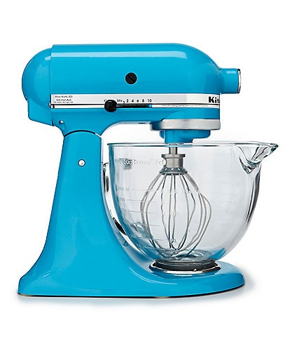 KitchenAid 5-Quart Tilt-Head Stand Mixer with Glass Bowl and Flex Edge Beater