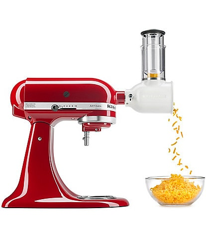 KitchenAid Artisan Series 5-Quart Tilt-Head Stand Mixer with Fresh Prep Slicer & Shredder Attachment