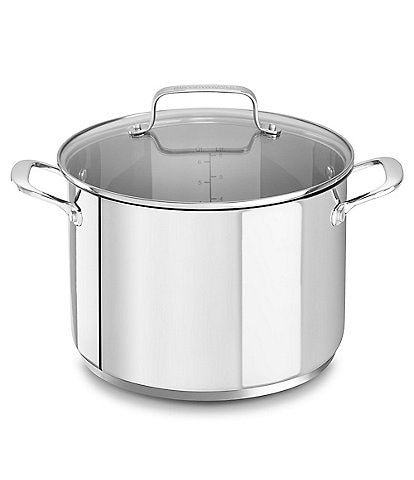 KitchenAid Stainless Steel Stockpot with Glass Lid