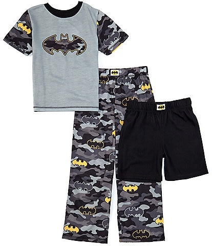 Komar Kids Little/Big Boys 4-12 Batman Camo 3-Piece Pajamas Set