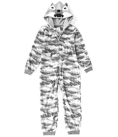 Komar Kids Little/Big Boys 4-16 Camo Wolf Fleece Onesie