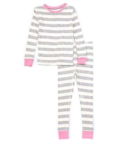 Komar Kids Little/Big Girls 4-12 Stripe 2-Piece Pajamas