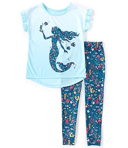 Komar Kids Little/Big Girls 4-14 Mermaid Reef Two-Piece Pajamas Set